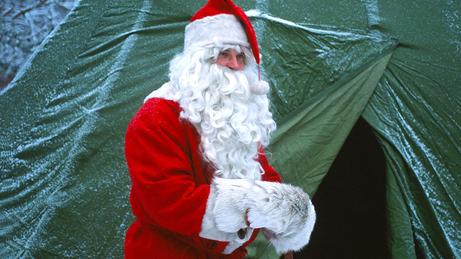 """Levi. Das Zelt des """"Weihnachtsmannes"""" - auch mitten im Wald. Foto: Hilke Maunder"""