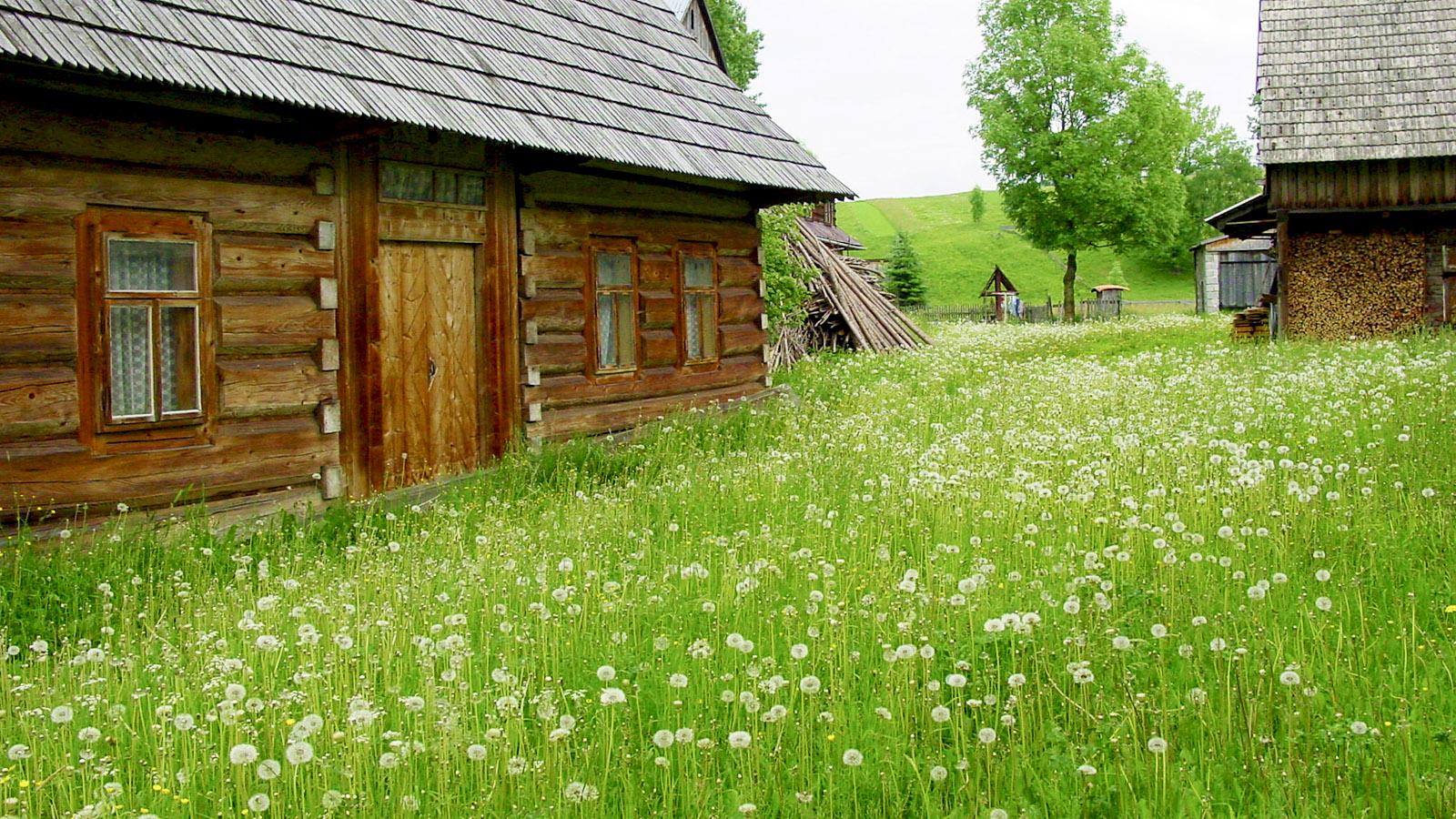 Hohe Tatra; Typisches Holzhaus in Chocholow, einem Bergdorf der Goralen. Foto: Hilke Maunder