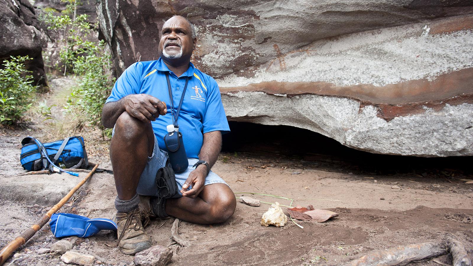 Bama Way: Willie Gordon zeigt sein Stammesland. Foto: Hilke Maunder