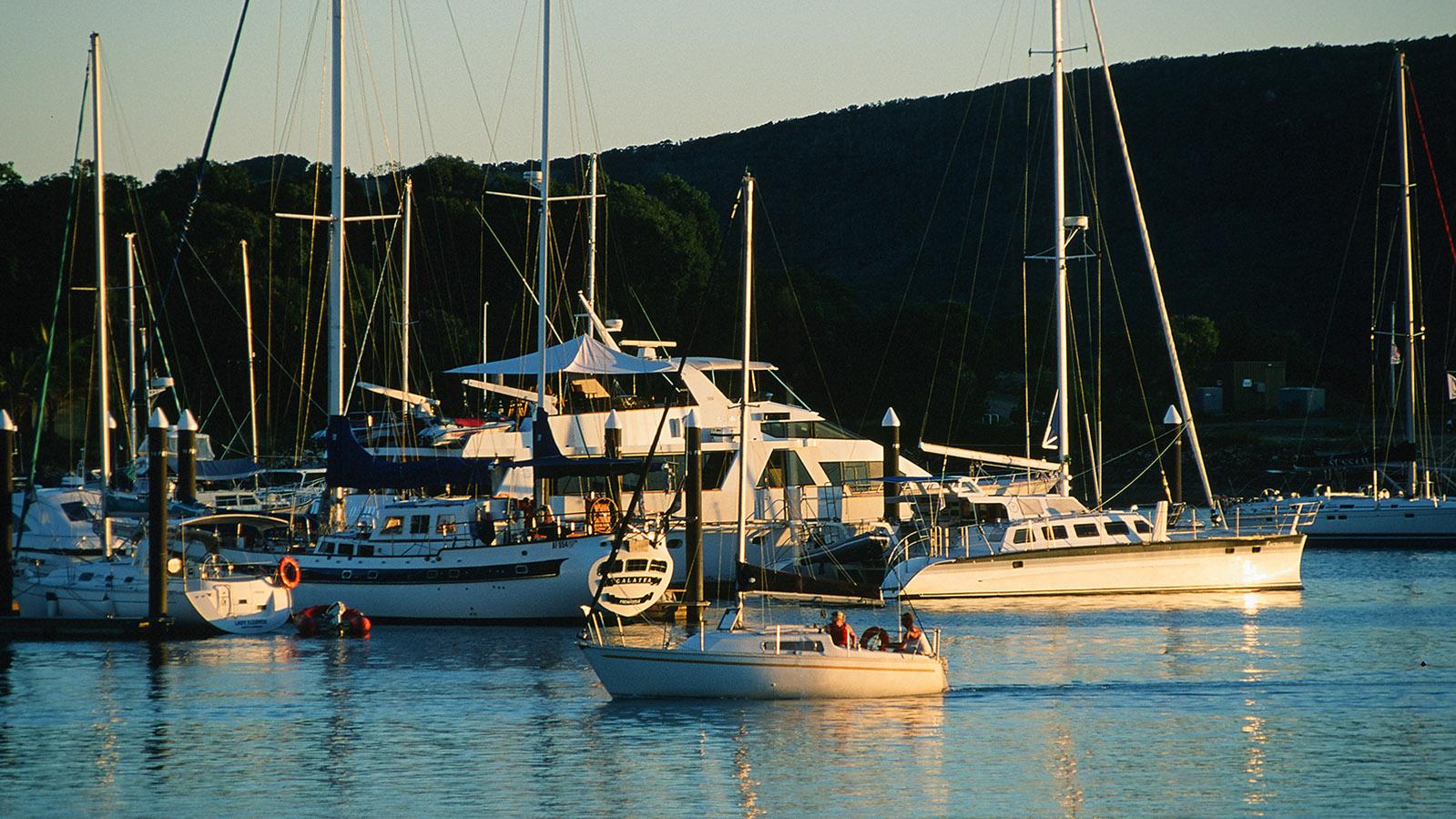 Whitsundays: Hamilton Island: die Marina. Foto: Hilke Maunder