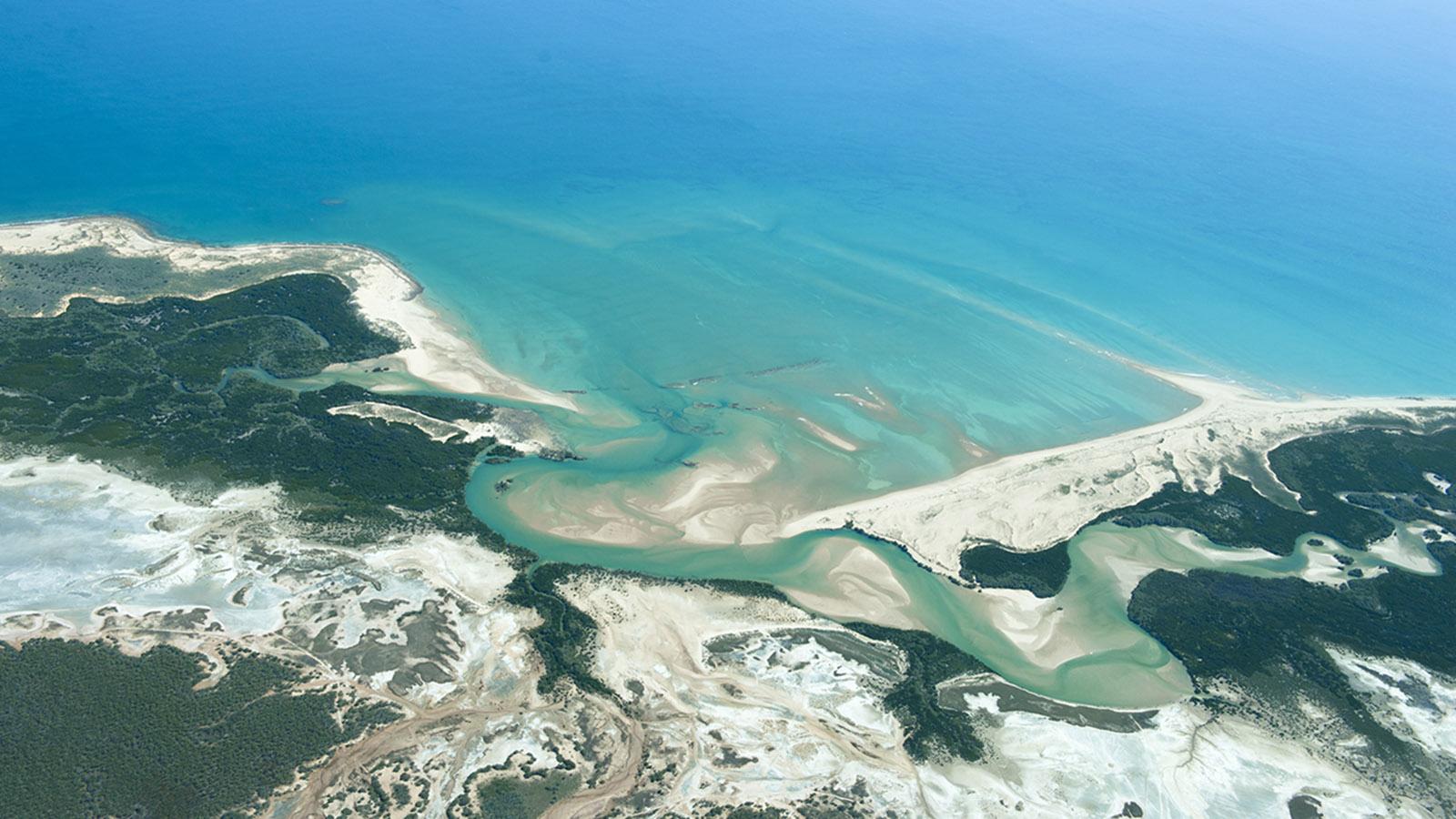 Heimat von Brian Lee: die Kimberleyküste – hier aus der Vogelperspektive. Foto: Hilke Maunder
