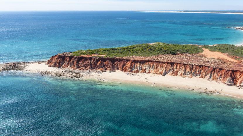 Cape Leveque aus der Luft. Foto: Hilke Maunder