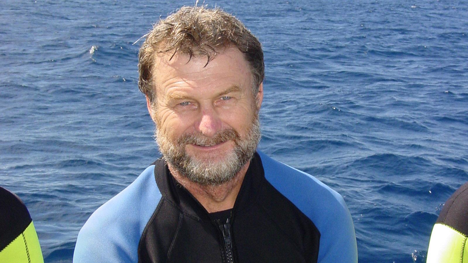 Coral Coast: Mit an Bord: Walhai-Experte Geoff Taylor. Foto: Hilke Maunder