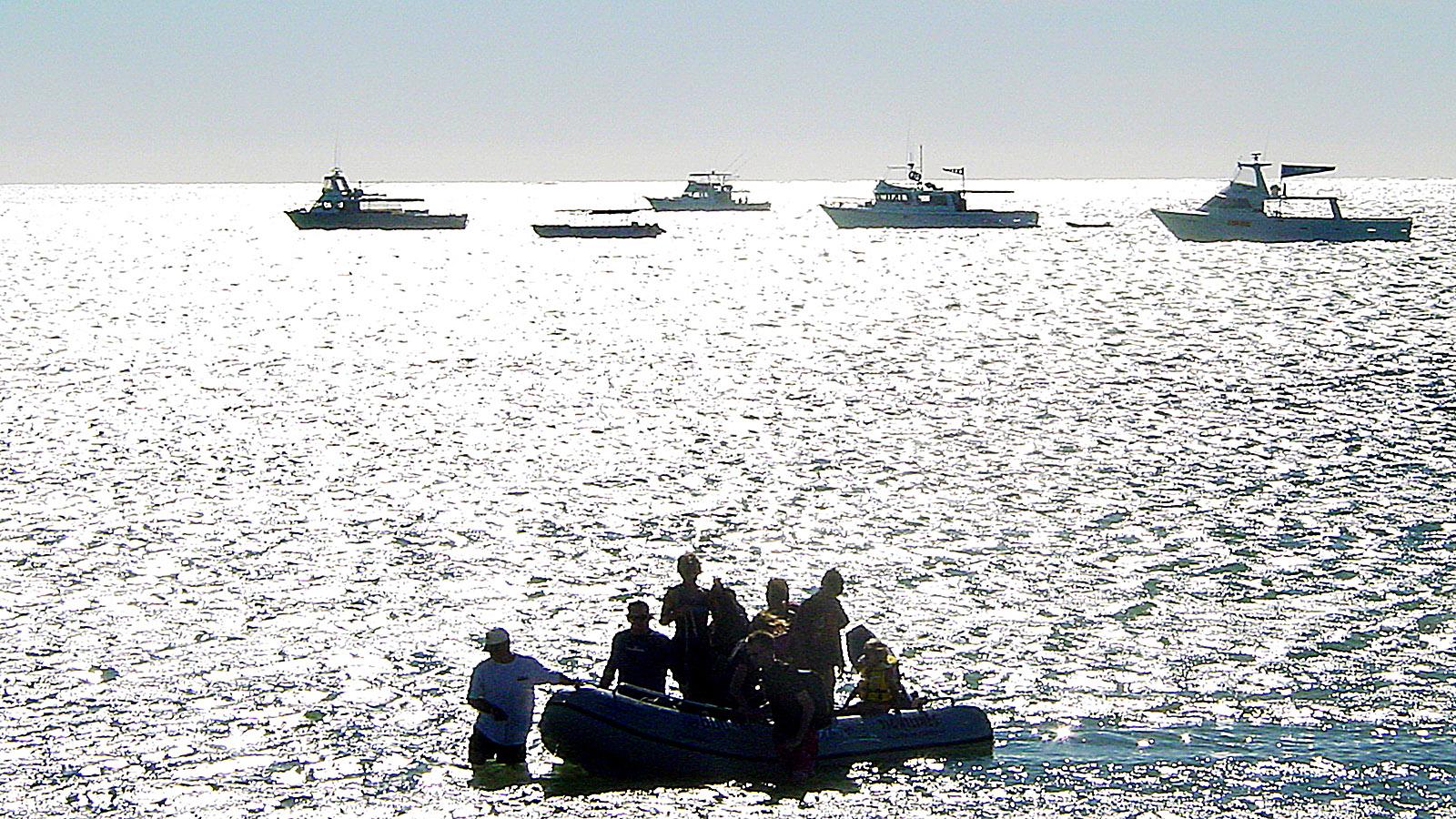 Exmouth: Rückkehr vom Tauchgang am Abend. Foto: Hilke Maunder