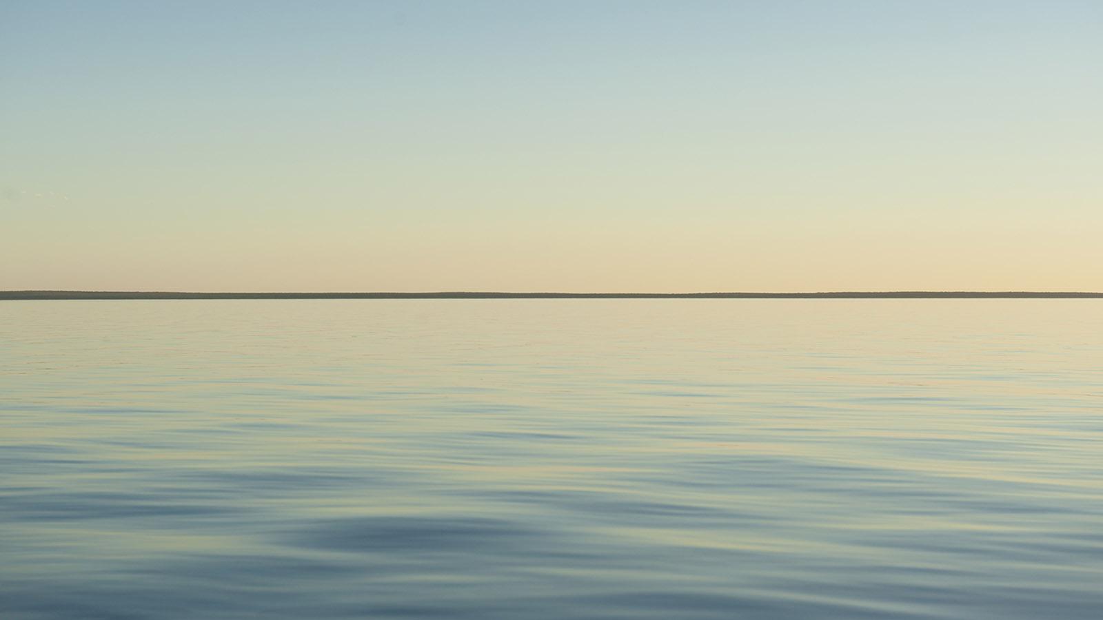 Coral Coast: Abendstimmung am Hamelin Pool im Welterbe Shark Bay. Foto: Hilke Maunder