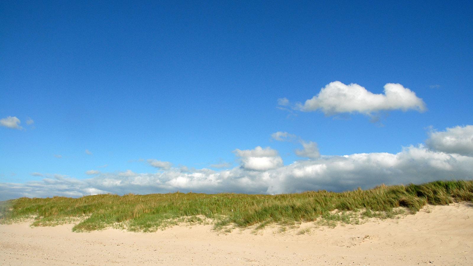 Weissenhäuser Strand: Sommer, Sonne, Schäfchenwolken: Urlaubsflair an der Ostsee. Foto: Hilke Maunder