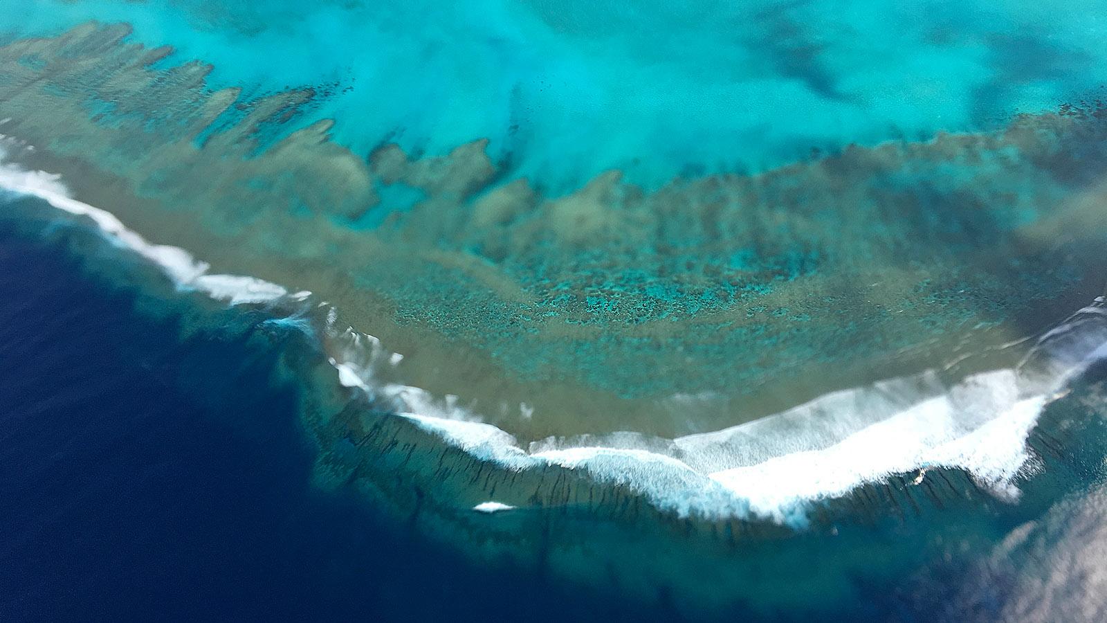 Die weltgrößte Lagune umgibt Neukaledoniens Inseln. Foto: Hilke Maunder