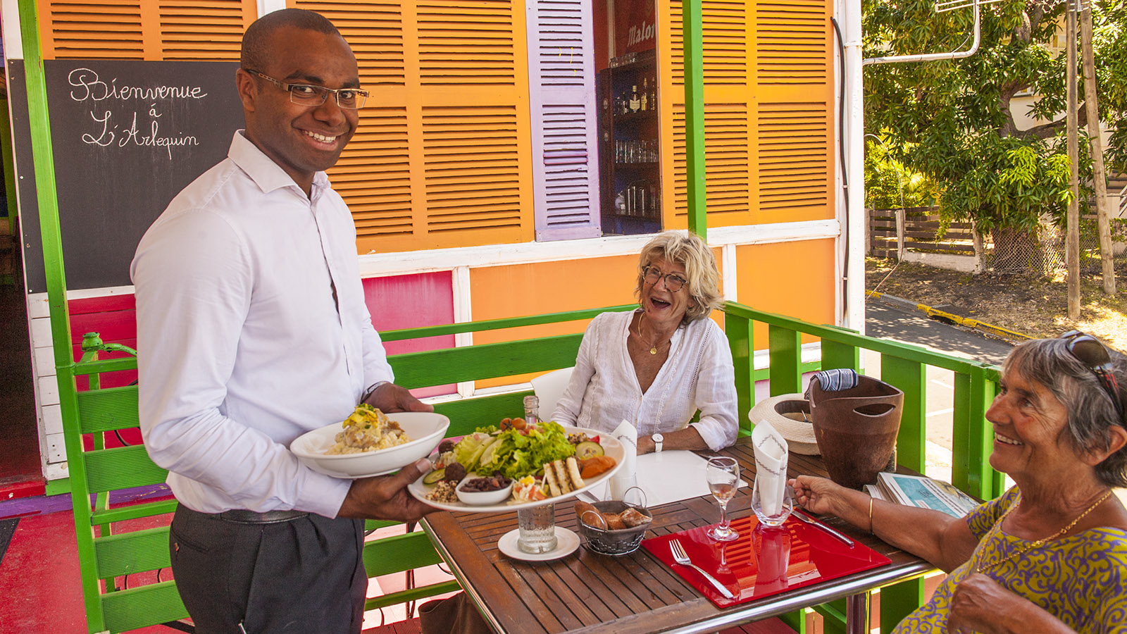 Die Küche von Neukaledonien, gesund und lecker neu interpretiert: Kostet sie im L'Arlequin, das in Nouméa in einem alten Kolonialhaus euch verwöhnt. Foto: Hilke Maunder