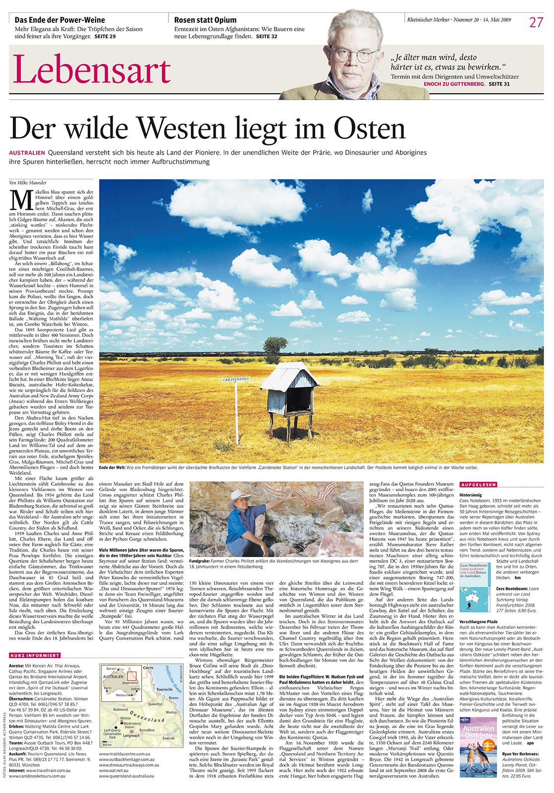 Rheinischer Merkur, Der wilde Westen liegt im Osten.