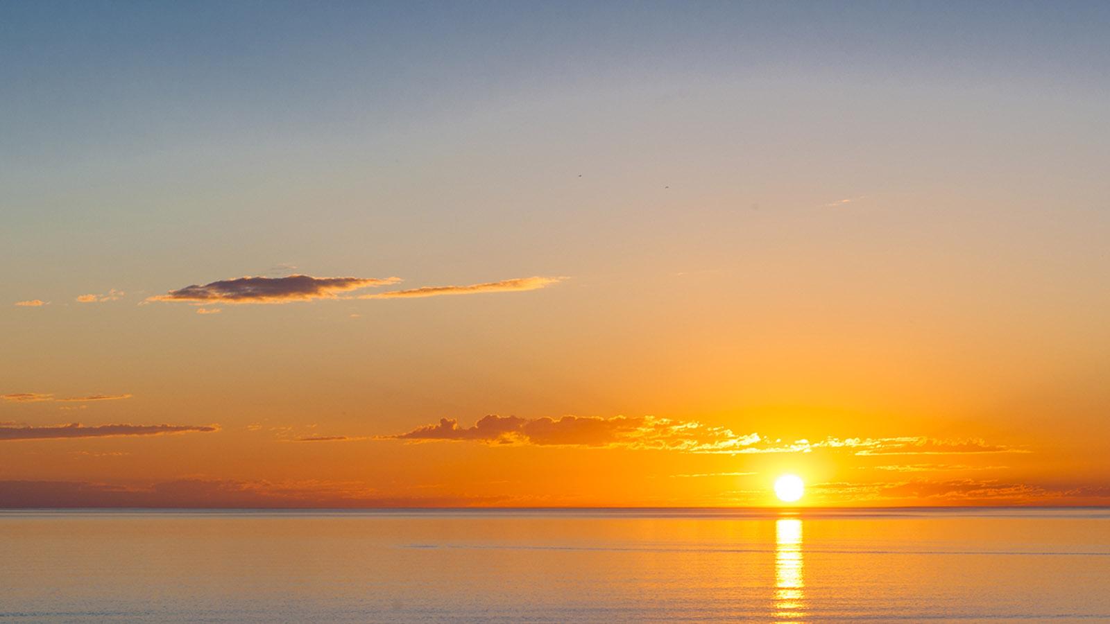 Postkartenkitschigschön: der Sonnenuntergang in Karumba. Foto: Hilke Maunder