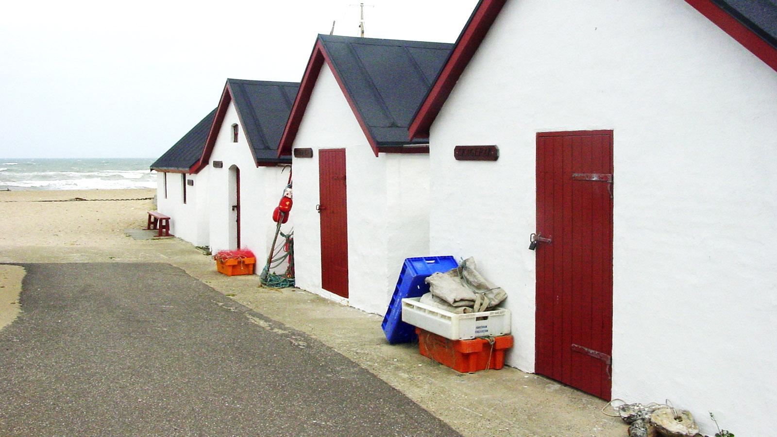 Die Hütten der Fischer von Thy - hier in Klitmøller. Foto: Hilke Maunder