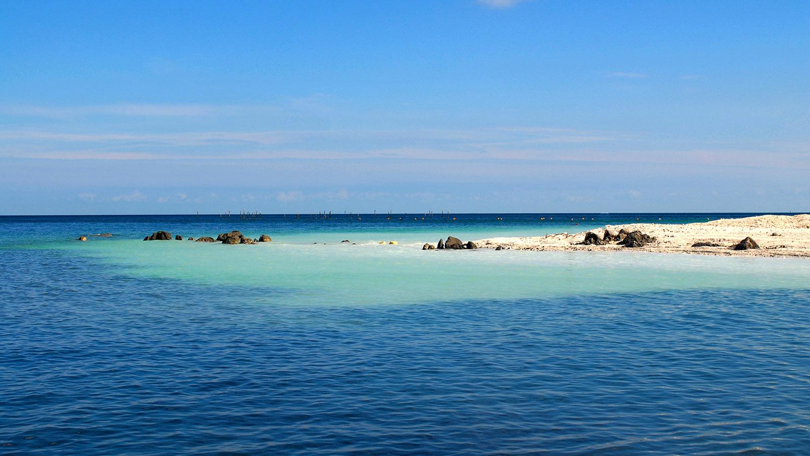 Am Møns Klint gibt sich die Ostsee ganz karibisch. Foto: Hilke Maunder