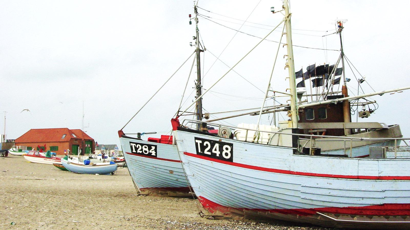 Die Strandfischer von Norrepør - ein beliebtes Ziel für Radtouren auf Thy. Foto: Hilke Maunder