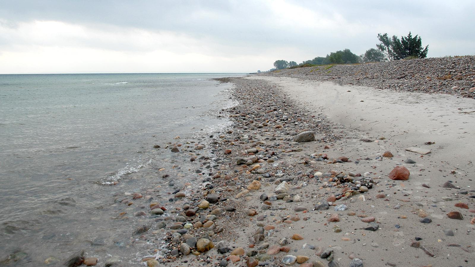 Der Ostseestrand von Damp gen Süden. Foto: Hilke Maunder