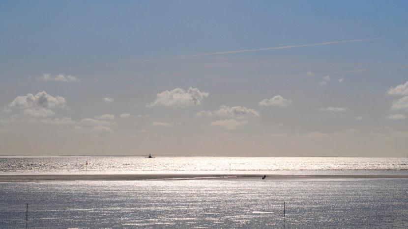 Eiderstedt: Nordsee bei Ebbe. Foto: Hilke Maunder