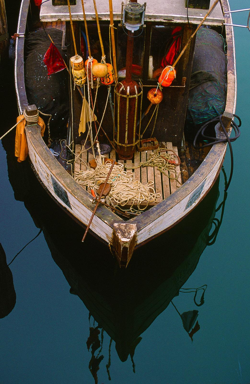E 9: Startklar für den nächsten Törn: das Fischerboot aus Warnemünde. Foto: Hilke Maunder