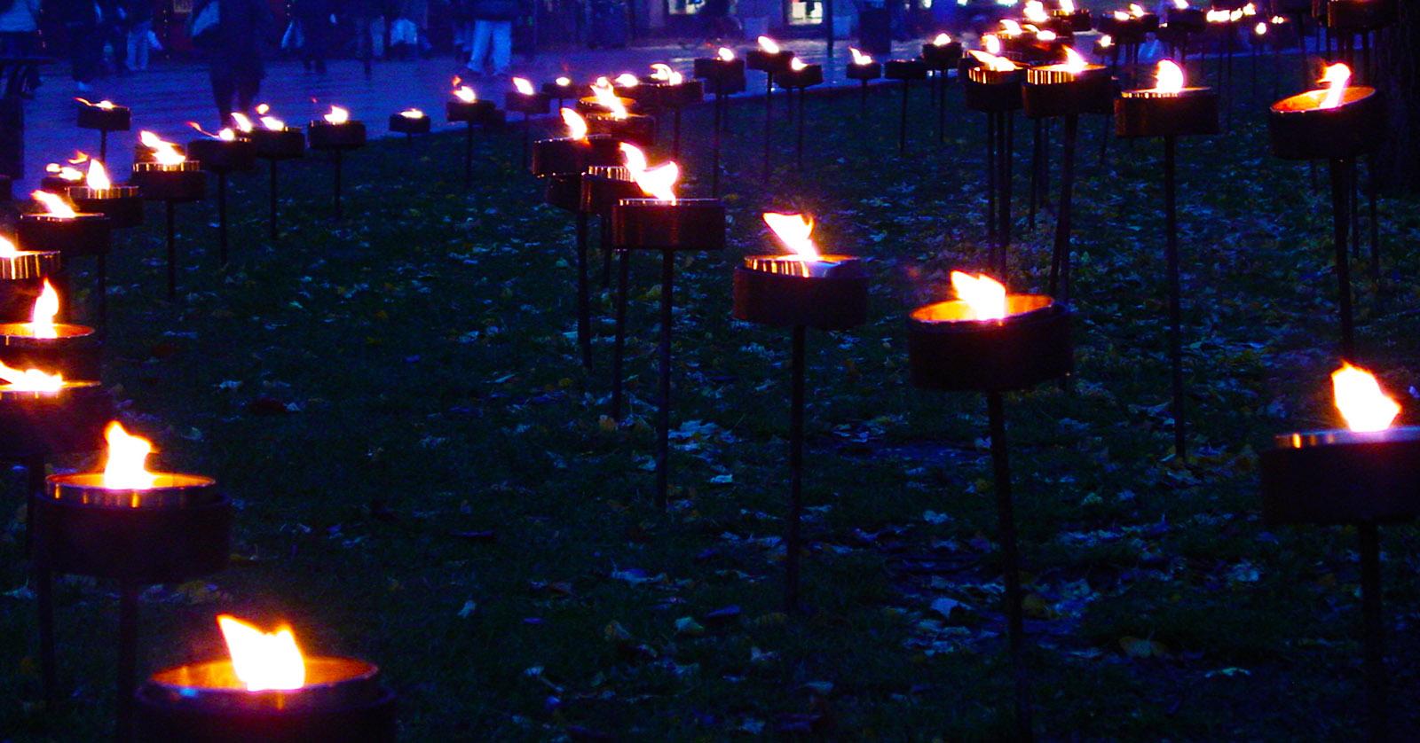 Juletid. Lichterglanz am Gustav Adolf Torg von Malmö. Foto: Hilke Maunder