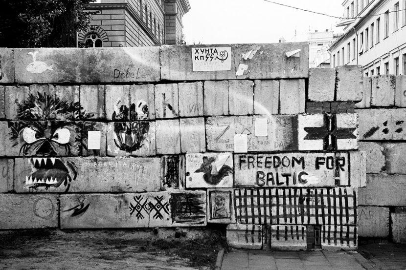 Riga: Barrikade in der Jēkaba-Straße 1991. Foto: Hilke Maunder