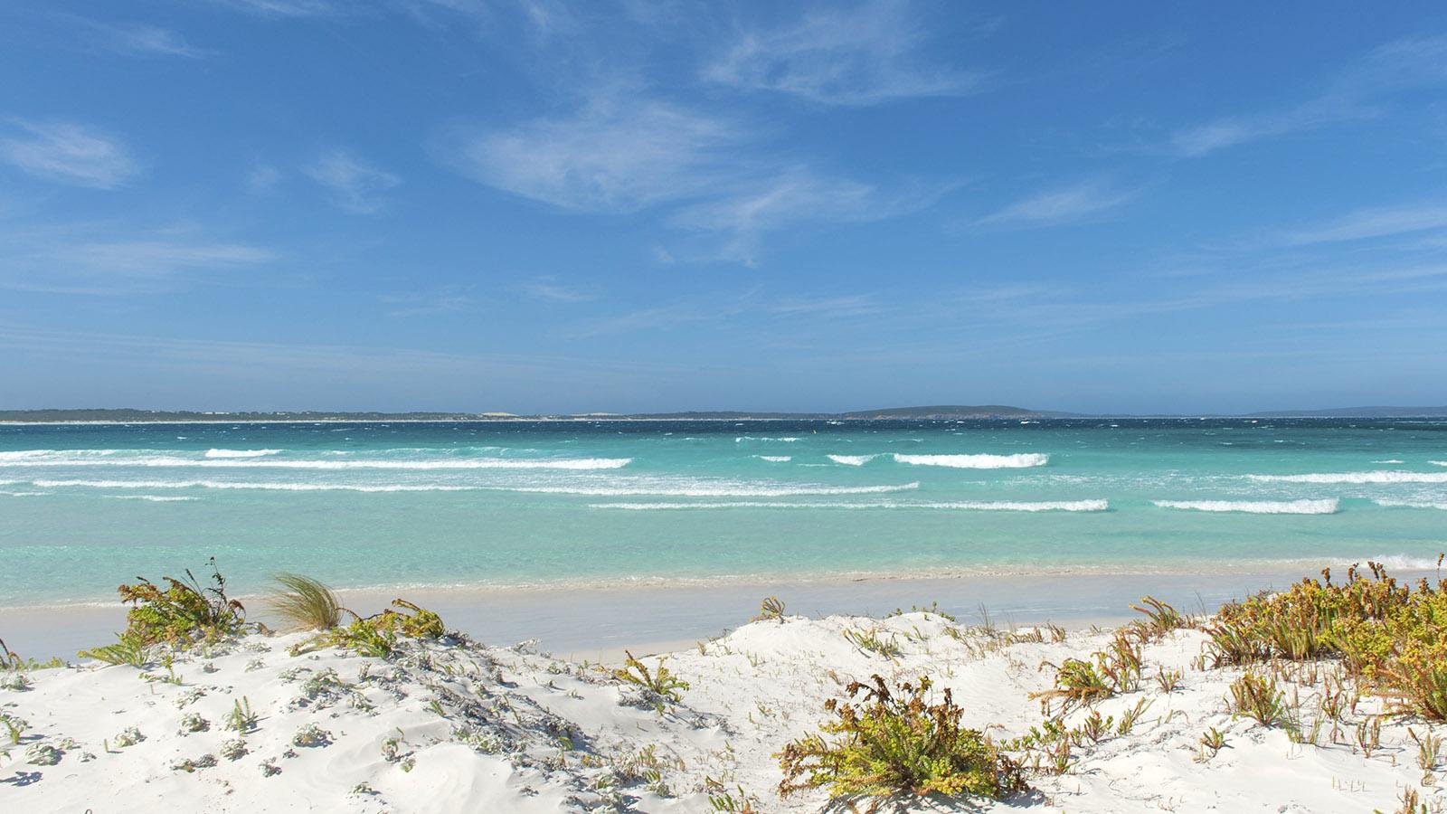 Wilder Süden: Die türkisfarbenen Fluten der Bremer Bay sind... eiskalt! Foto: Hilke Maunder