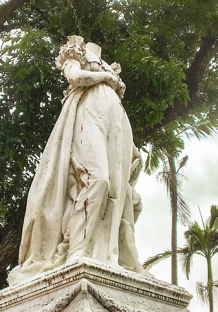 Martinique. Denkmal für Kaiserin Josephine in Fort-de-France. Foto: Hilke Maunder
