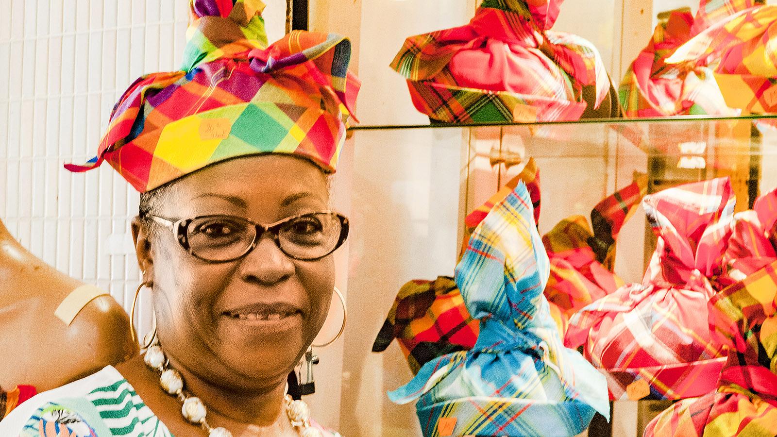 Martinique. Verheiratet oder nicht? Die Haube verrät es! Foto: Hilke Maunder