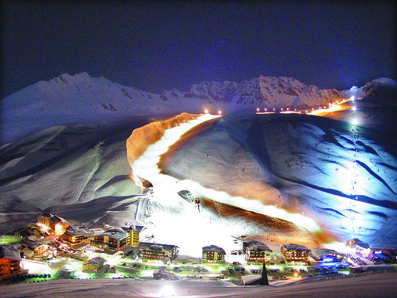 Flutlicht-Ski in Kühtai