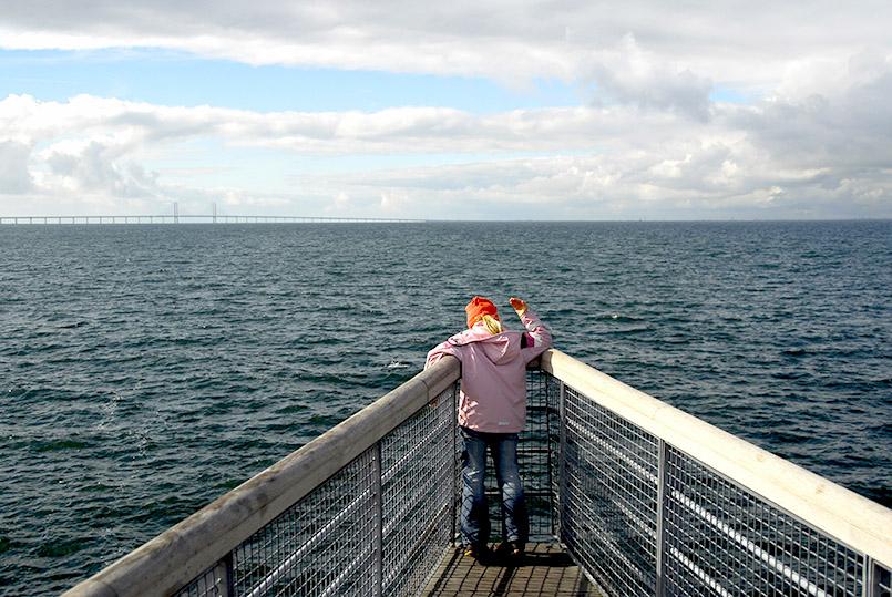 Malmö: Blick vom Västrahamn auf die Öresundbrücke