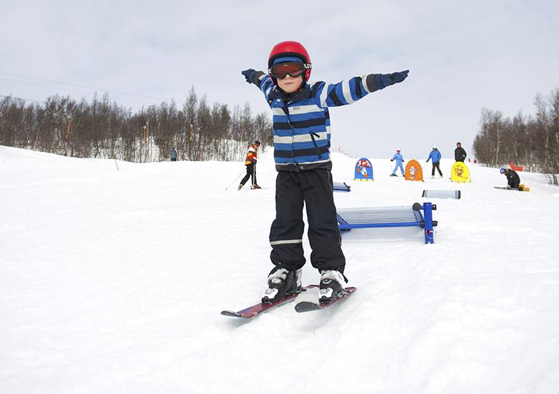 Skispaß für Kinder in Hovden