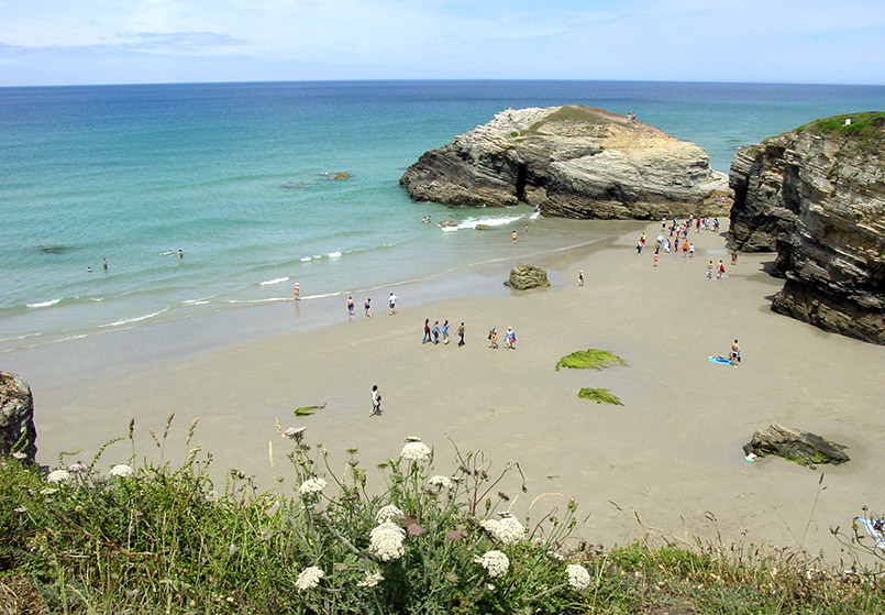 Galicien: Playa de las Catédrales.