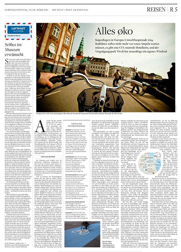 Umwelthauptstadt Kopenhagen - ein Beitrag von Hilke Maunder für die WELT-Gruppe