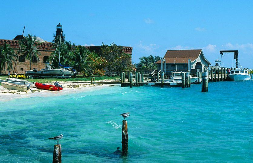 USA/Florida/Florida Keys/Dry Tortugas: Marina, Fort Jefferson