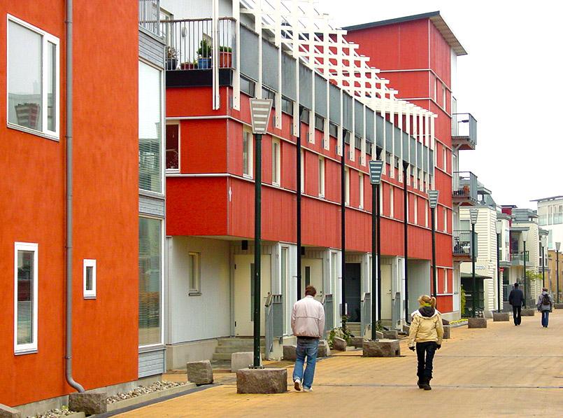 Malmö: neue Wohnhäuser in Västra Hamnen