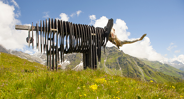 CH_Wallis_Verbier_Kunstpfad_Elefant_©Hilke Maunder
