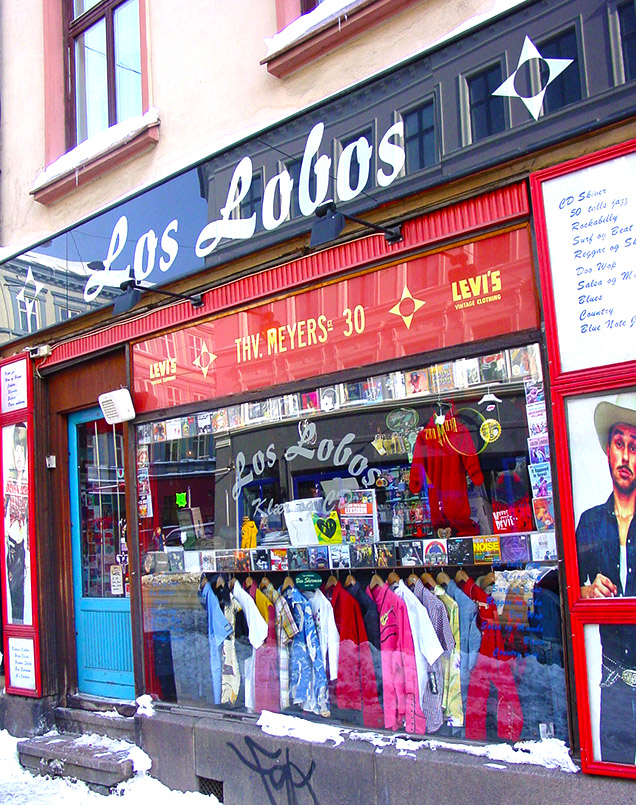 "Die Boutique ""Los Lobos"" an der Thorvald Meyers Gate."