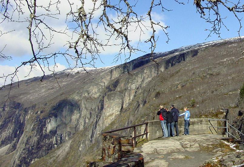Die Aussichtsplattform am Vøringsfossen