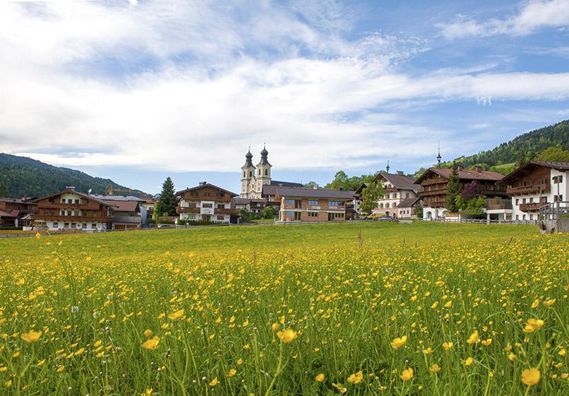 Blick auf Hopfgarten in Tirol