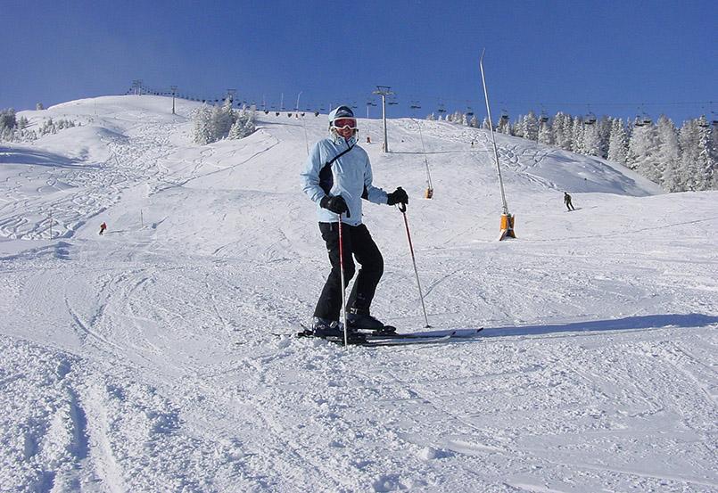 Tux: Skigebiet Eggalm, Piste am Lattenalmlift.