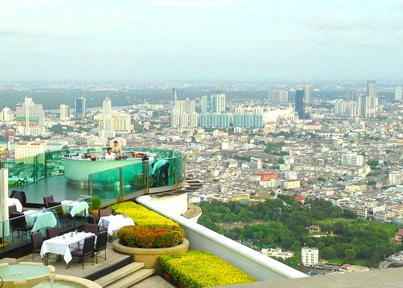 "Aus ""Hangover 2"" berühmt: das Restaurant des Lebua State Towers in Bangkok"