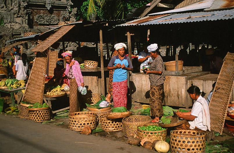 Auf dem Markt von Banjar