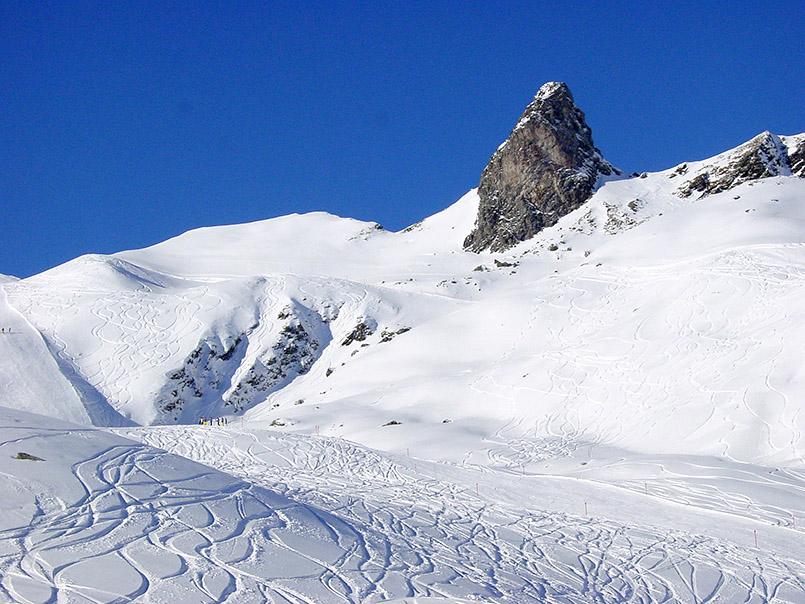 Arosa/Skigebiet:Hörnli (r.).