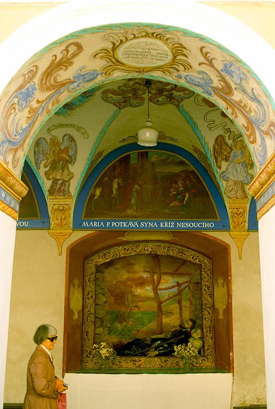 Rimov: Wallfahrtskirche, Kreuzgang