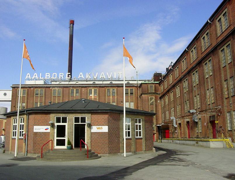 Das Stammhaus von Aalborg Akvavit iin Aalborg