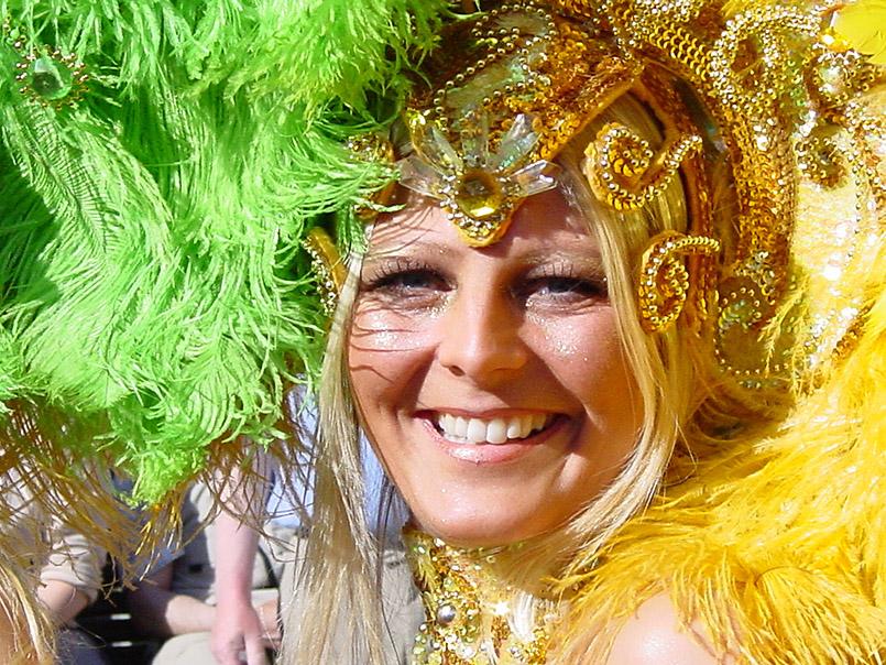 Die Battle of Carnival im Kildeparken beim Karneval von Aalborg, hier die dänische Gruppe Poco Loco