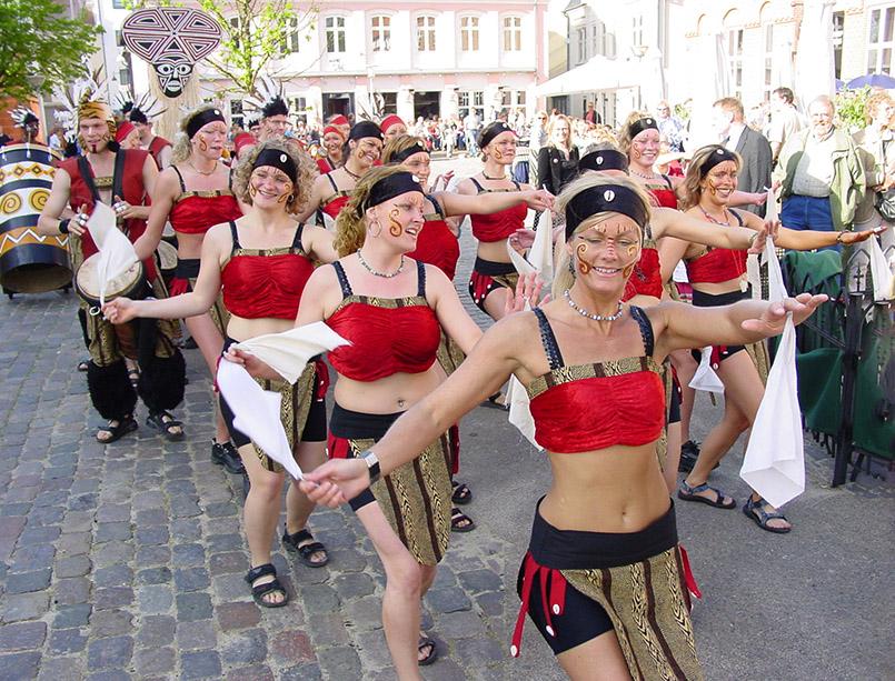 Die Gruppe Vimaroz beim Karneval von Aalborg