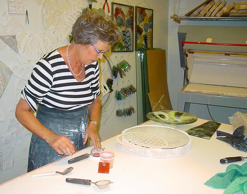 Glaskünstlerin Lisbeth Lange aus Aalborg