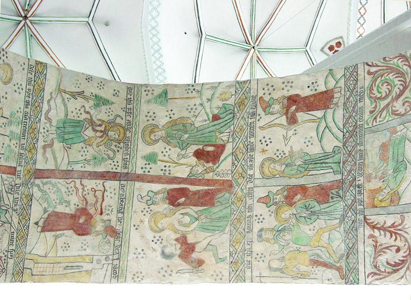 Mittelalterliche Wandmalereien in der Domkirche von Aarhus