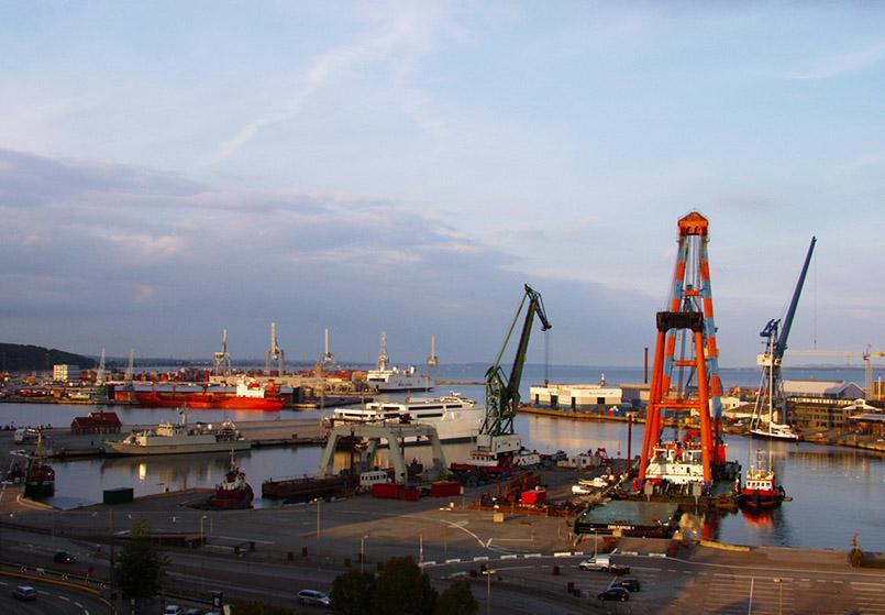 Der Hafen von Aarhus