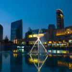 Am Dubai Lake wird eine beeindruckende Wasserschau gezeigt