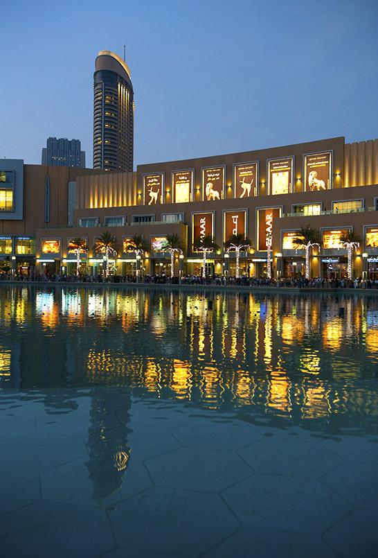 Die Dubai Mall am Dubai Lake