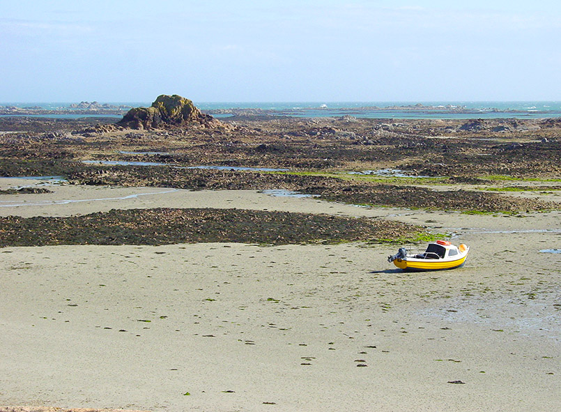 Jersey: Watt-Landschaft bei La Roquel an der Südostküste